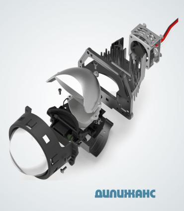 """Светодиодная би линзы (Bi-LED) DECKER SPL-100 3"""" 6000K 50W - 5"""
