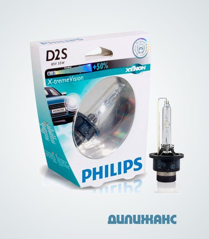Ксеноновая лампа Philips D2S +50% X-Treame Vision 85122XV