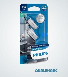 Светодиодные лампы W5W T10 Philips 4500K