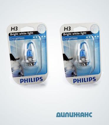 Галогенні лампи Philips Crystal Vision 4300K H3