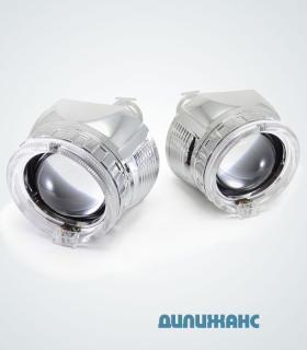 Биксеноновые линзы Infolight G5 Super с LED ангельскими глазками