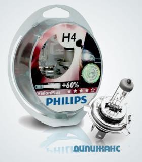Галогенные лампы Philips Vision Plus +60% H4