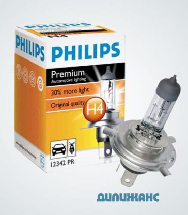 Галогенні лампи Philips Premium H4
