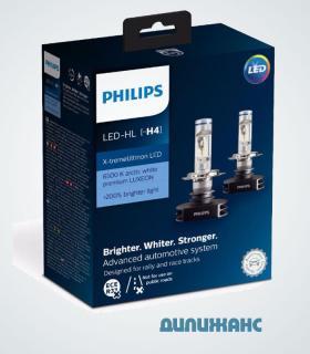 Светодиодные лампы Philips LED-HL H4 X-treme Ultinon