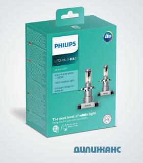 Philips Ultinon LED-HL H4, 11342ULWX2
