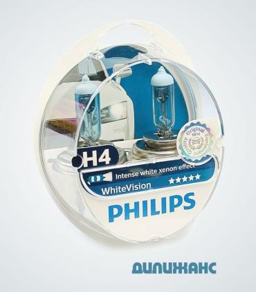 Philips White Vision 3700K + 60% H4
