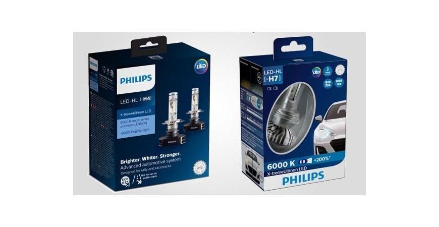 Светодиодные лампы PHILIPS X-treme Ultinon H4, H7, H8